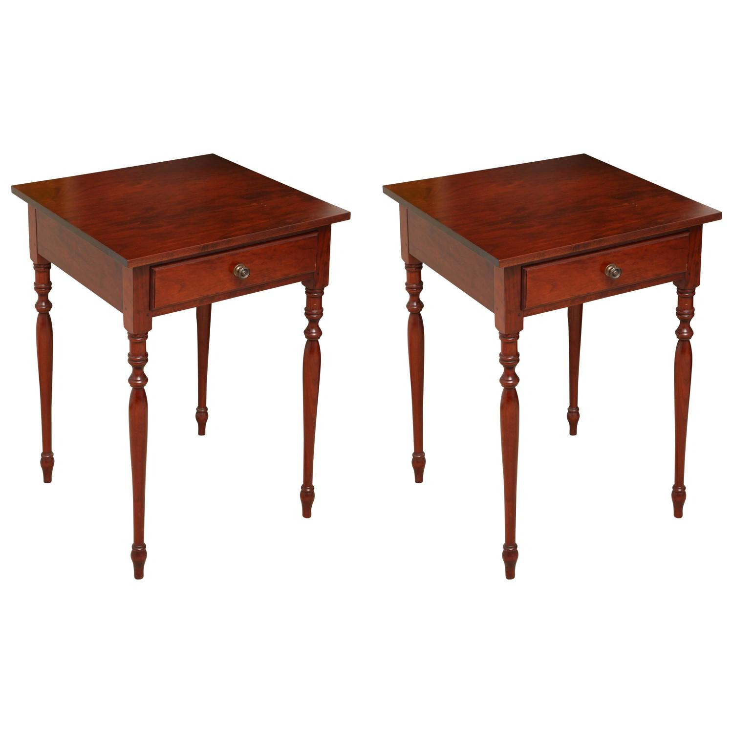 Cherry Side Table ~ Sheraton style cherry side tables at stdibs