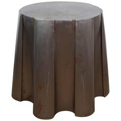 John Dickinson Style Galvanized Metal Side Table