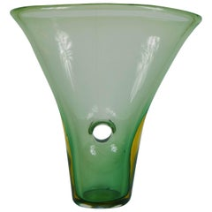 "Vase Called ""Forato"" Venini Murano Glass by Fulvio Bianconi, Signed 1951"