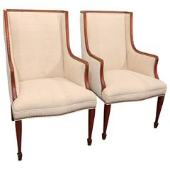 Midcentury Chairs in Hand-Loomed Linen