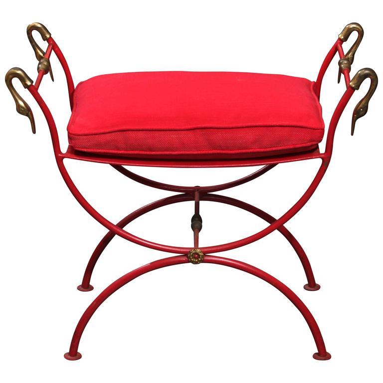 Red Italian Bench 1