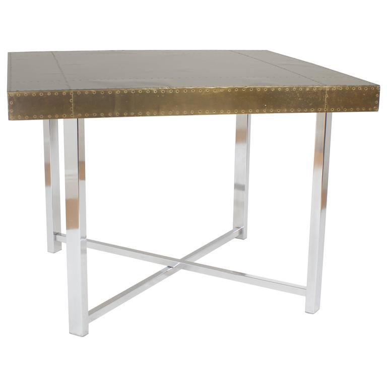 Brass and Chrome Game Table