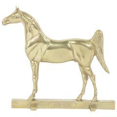 Large Brass Horse Door Stop