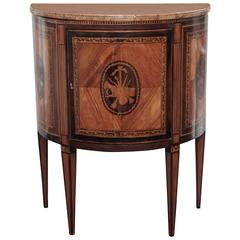 Continental Fruitwood Inlay Cabinet