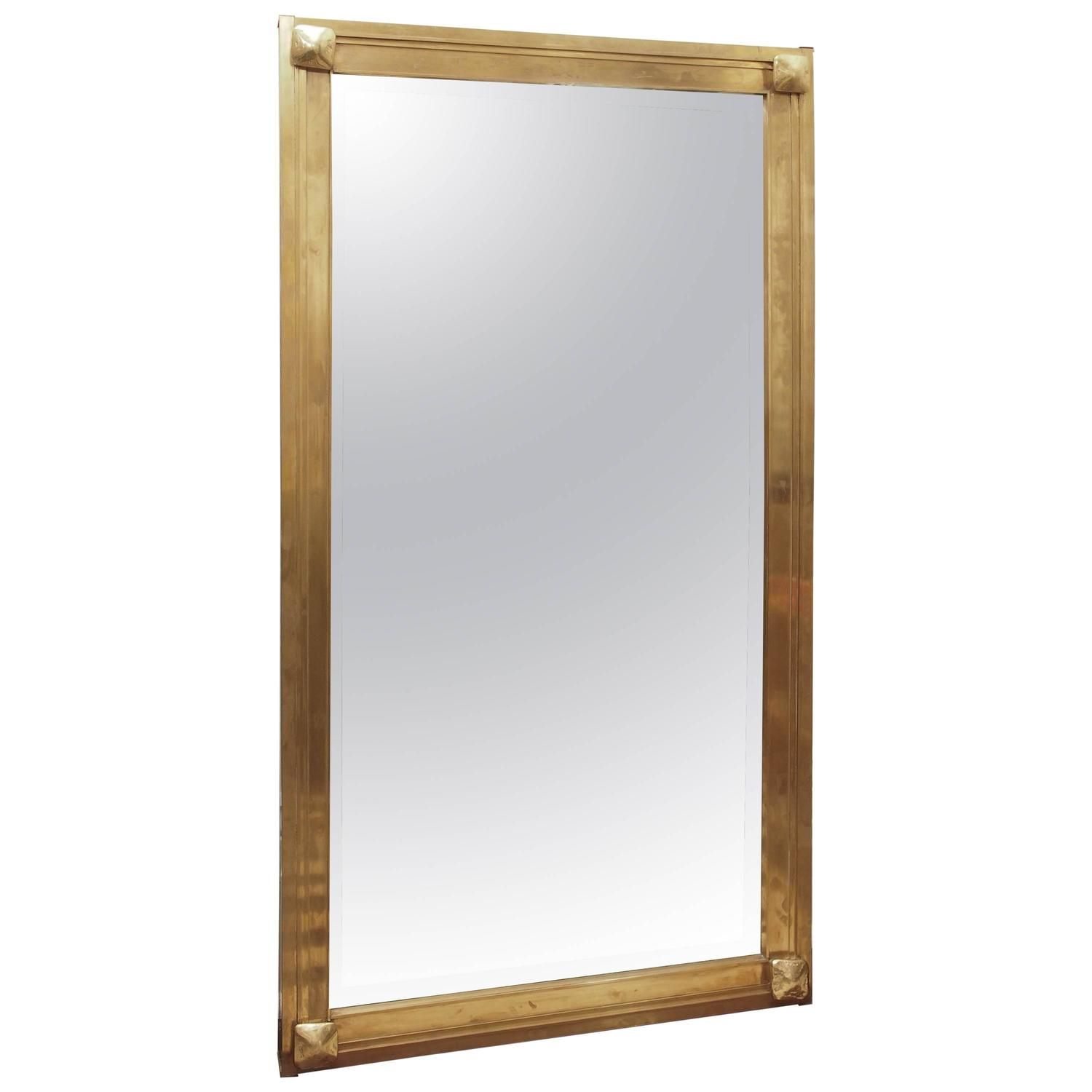 Large rectangular mirror with bronze frame at 1stdibs for Bronze mirror