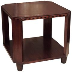Art Deco Side Table in Mahogany
