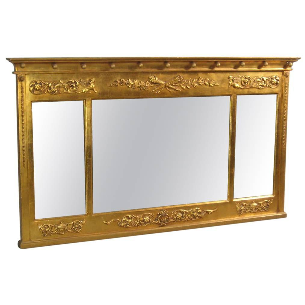 Federal carved giltwood over mantel mirror at 1stdibs for Fireplace mirrors