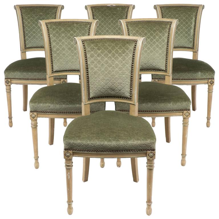 Dining Room Furniture Styles: French Antique Directoire Style Set Of Chairs At 1stdibs