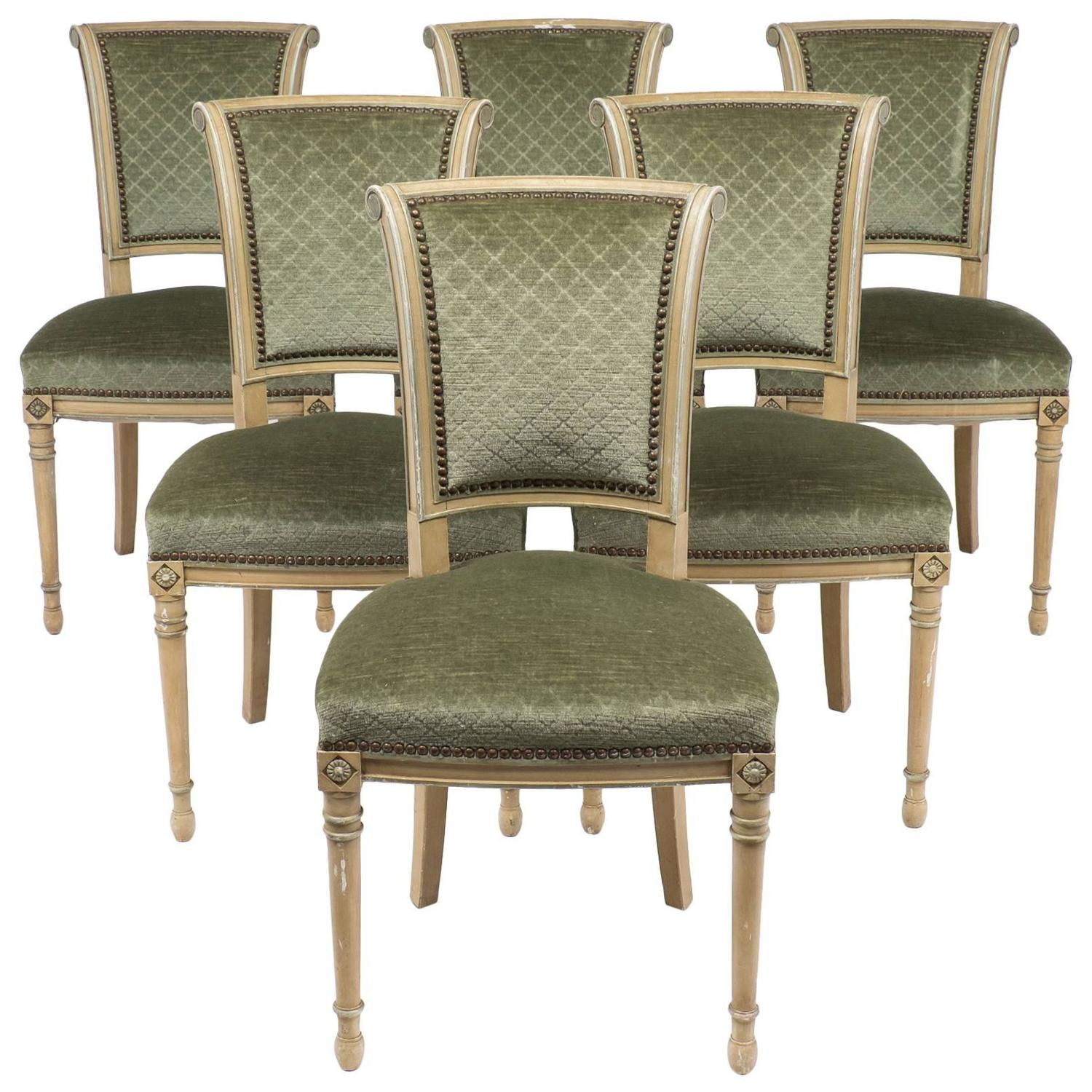 French Antique Directoire Style Set Of Chairs At 1stdibs