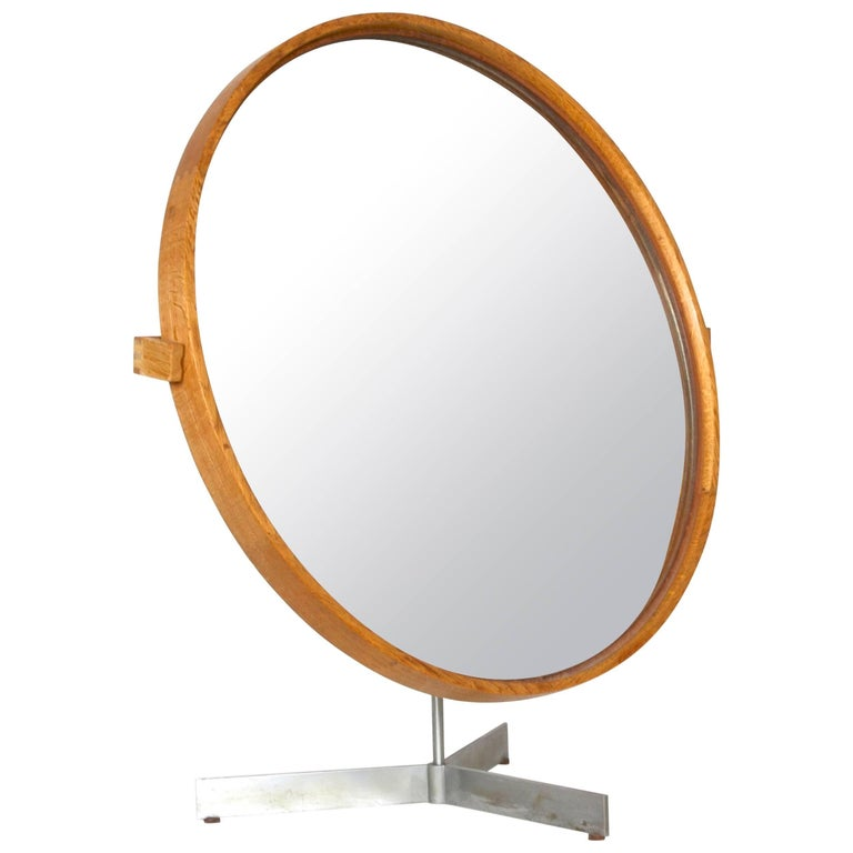 Table Mirror by Uno & Östen Kristiansson for Luxus of Sweden, 1960s For Sale