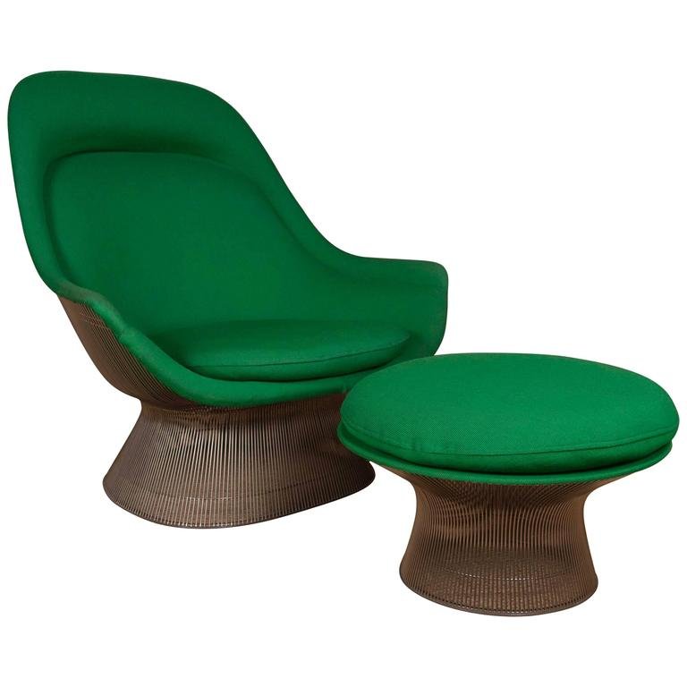 Warren Platner For Knoll Easy Chair And Ottoman At 1stdibs