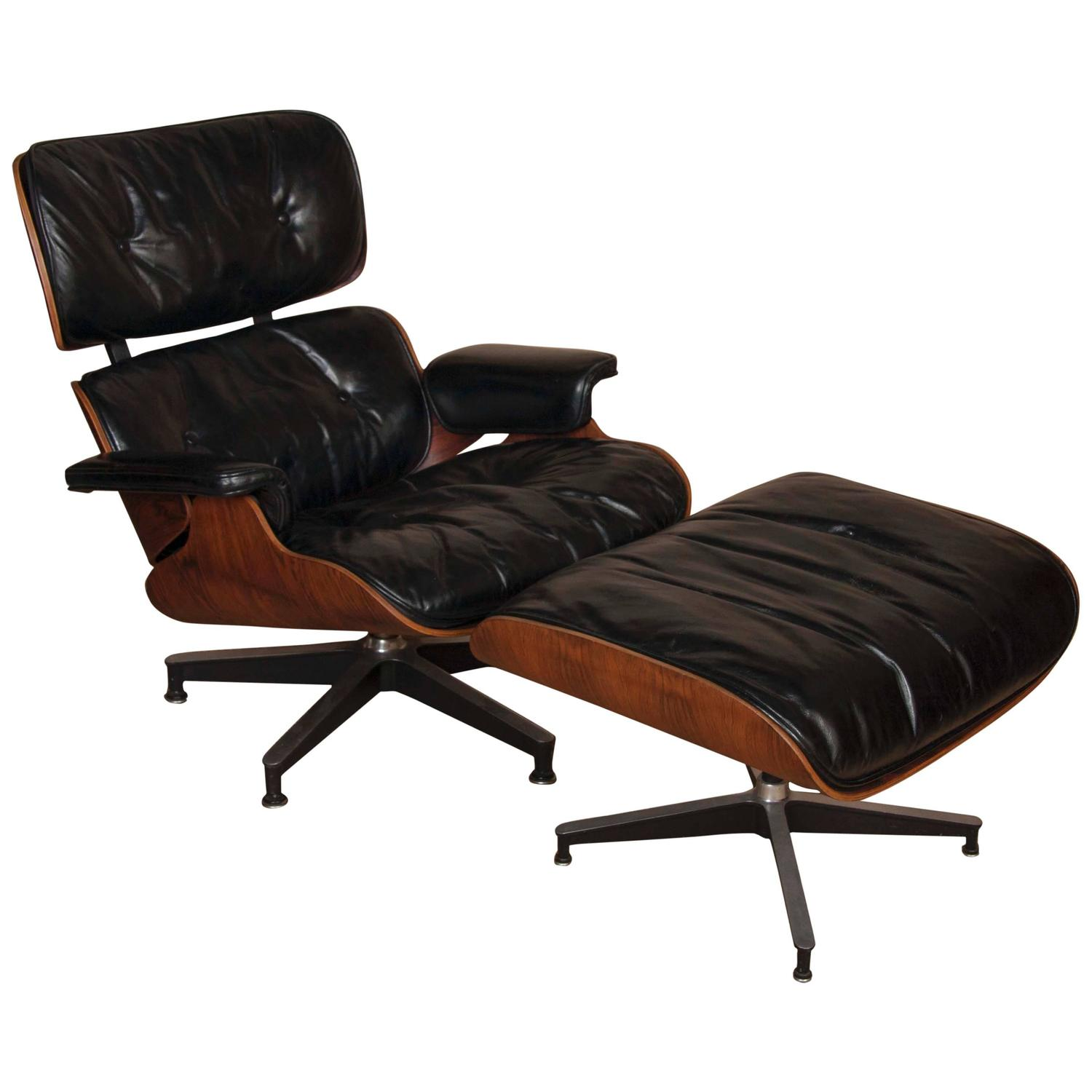 charles and ray eames lounge chair and ottoman at 1stdibs. Black Bedroom Furniture Sets. Home Design Ideas