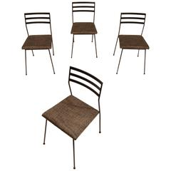 Four Vista of California Iron Dining Chairs
