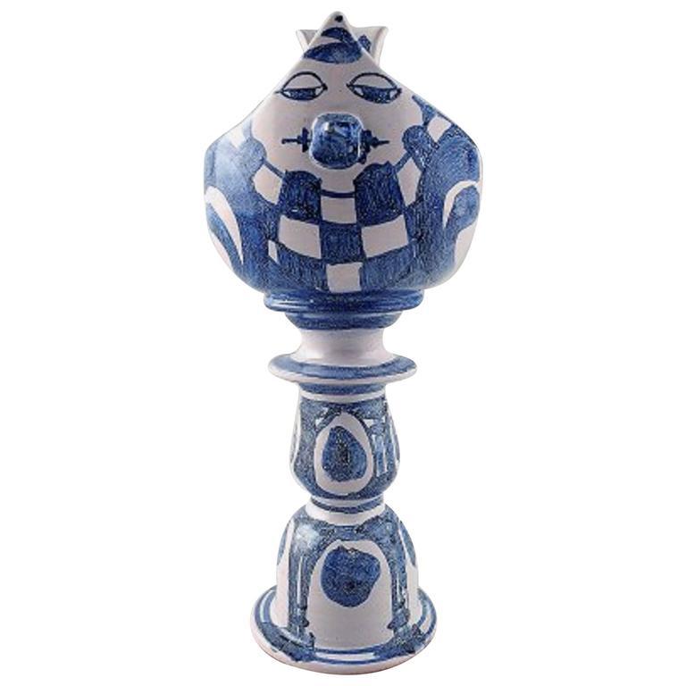 Rare Bjorn Wiinblad One-of-a-Kind Ceramic Candlestick