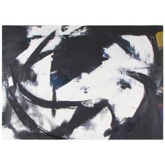 Large Dramatic Abstract Oil on Canvas Painting by Guillermo Calles