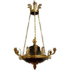 German Empire Gilt Bronze Chandelier