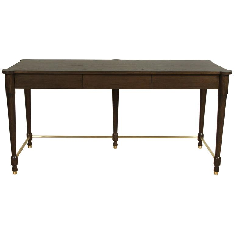 Niguel Desk by Lawson-Fenning in Dark Grey Washed Oak