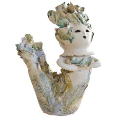 Vintage Ribbon Ceramic Mermaid
