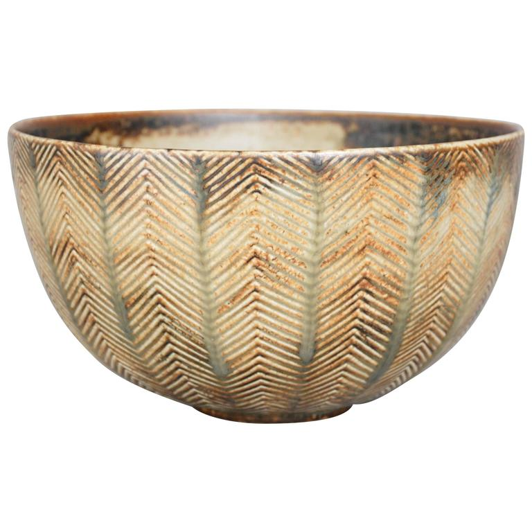 Axel Salto Stoneware Bowl for Royal Copenhagen, Denmark