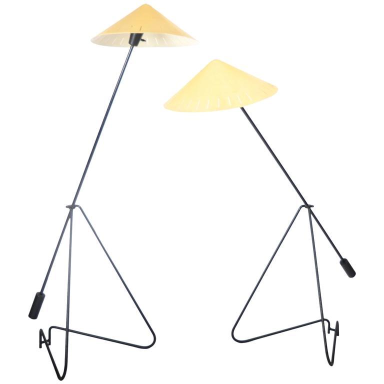 Pair of Floor Lamps, Sweden, 1950-1960s