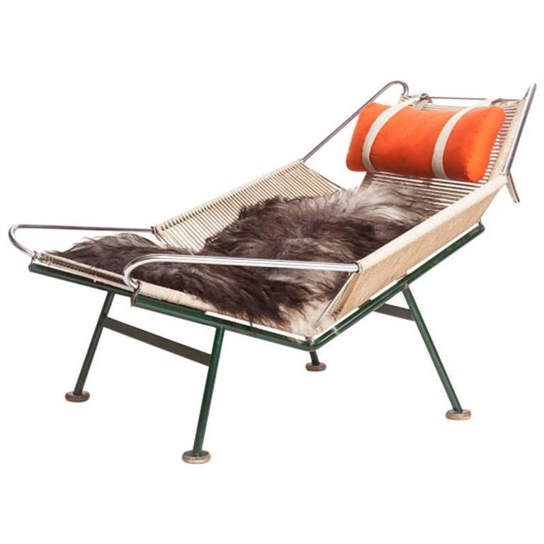 Bon Danish Mid Century Modern Flagline Halyard Chair By Hans Wegner For Sale