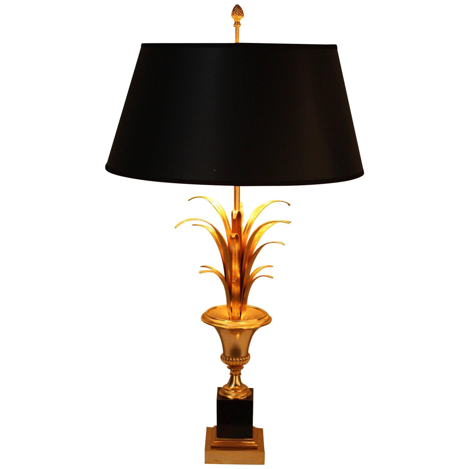 maison charles palm tree table lamp at 1stdibs. Black Bedroom Furniture Sets. Home Design Ideas