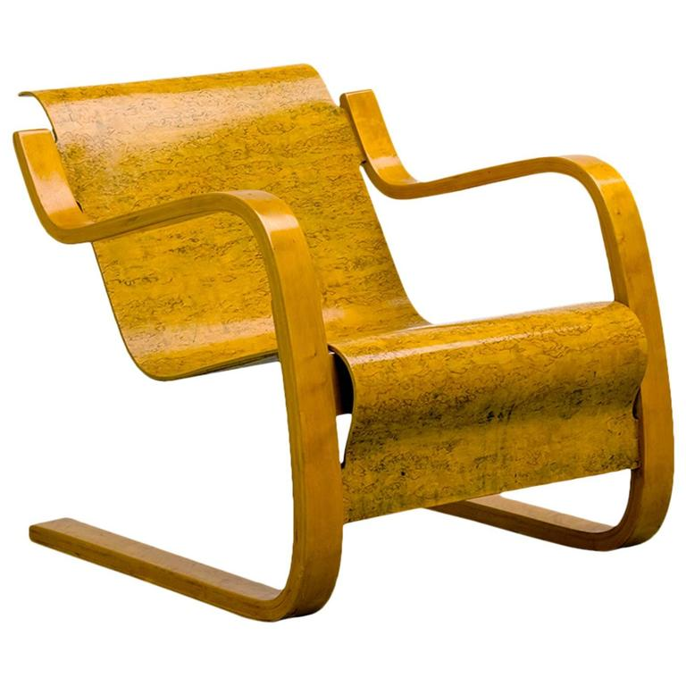 Alvar aalto wohnbedorf lounge chair at 1stdibs for Alvar aalto chaise longue