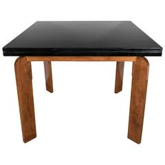 Streamline Art Deco Flip-Top Extension Dining Table or Game Table by Modernage