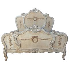 French Bed, French Louis XV Style Bed Queen-Size