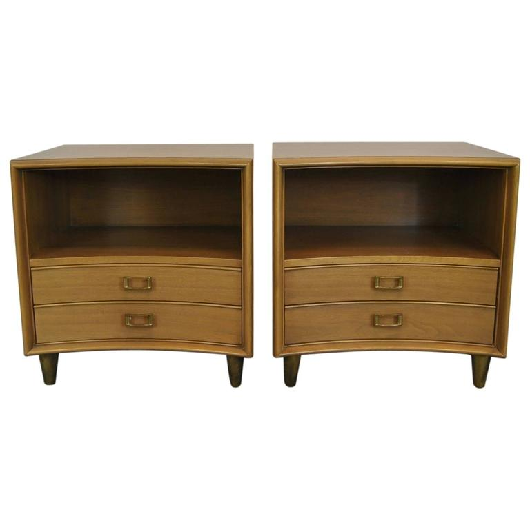 Pair of Mid-Century Modern Nightstands by Paul Frankl for Johnson Furniture