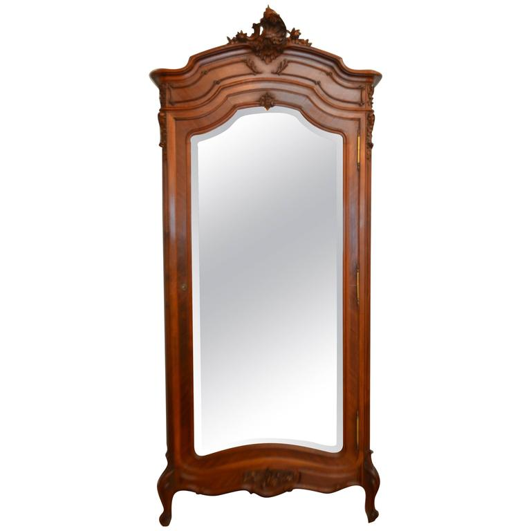 Louis XV Style Walnut One Door Armoire For Sale