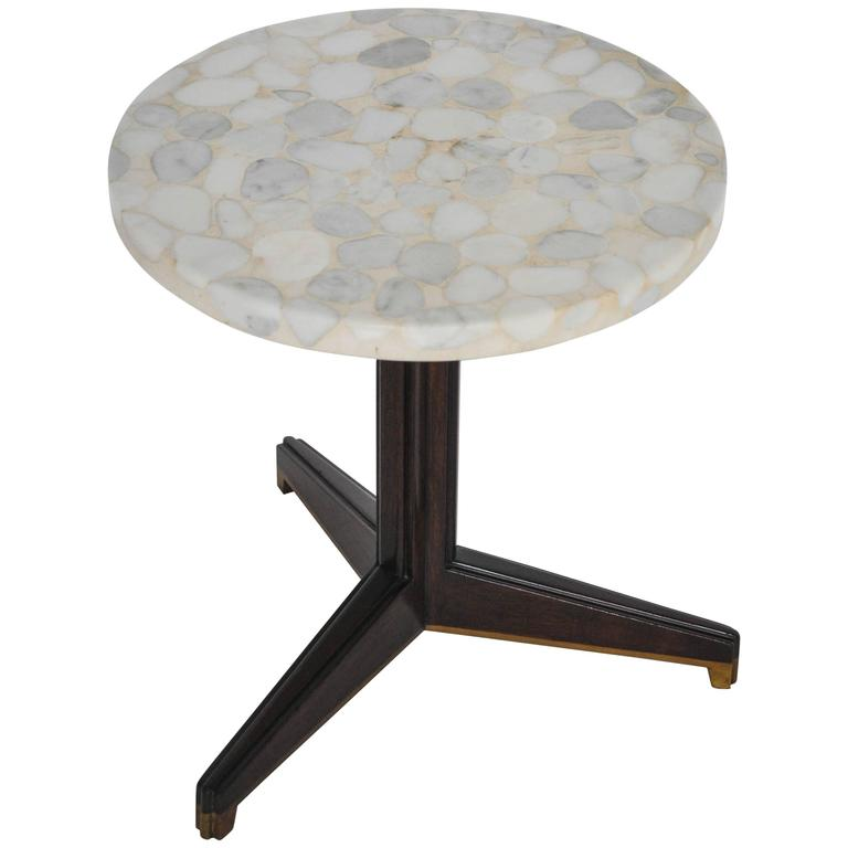 Edward Wormley for Dunbar Terrazzo Stone Side Table