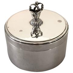 Georg Jensen Sterling Silver Box with Cover