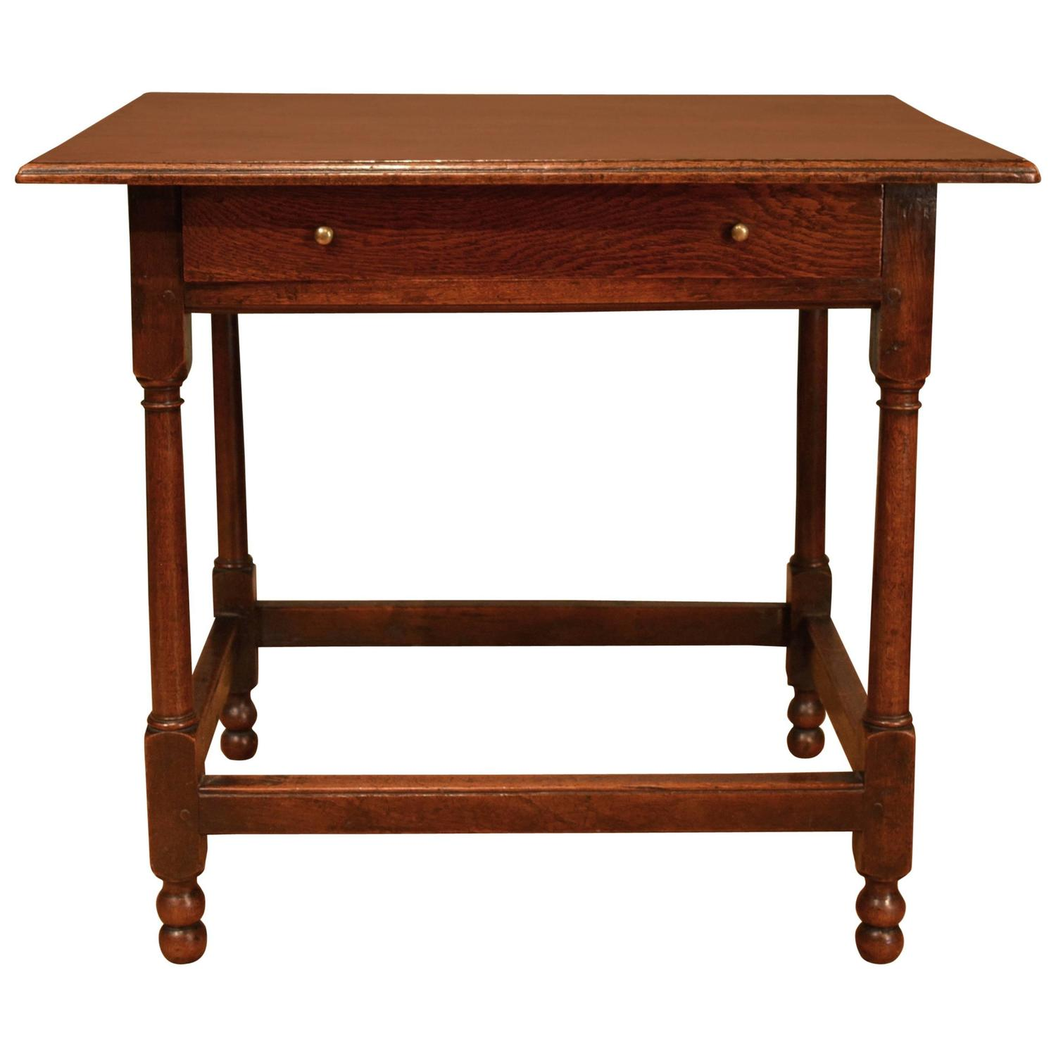 18th Century Oak One Drawer Side Table For Sale At 1stdibs. Full resolution  photograph, nominally Width 1500 Height 1500 pixels, photograph with #3F170B.