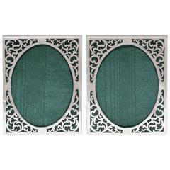 Pair of Art Nouveau Sterling Picture Frames