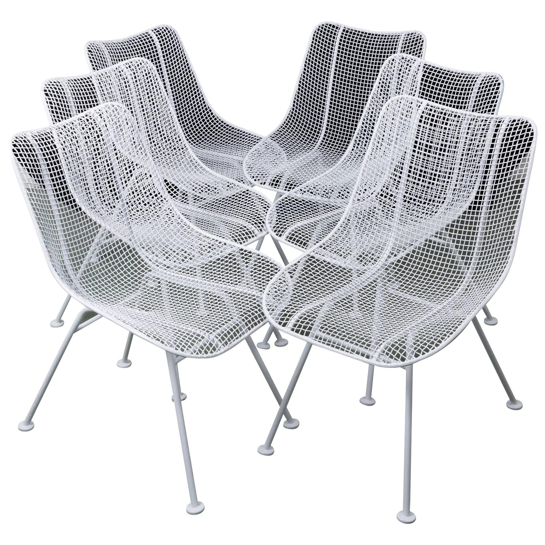 Woodard Mid Century Modern Wire Mesh Chairs at 1stdibs