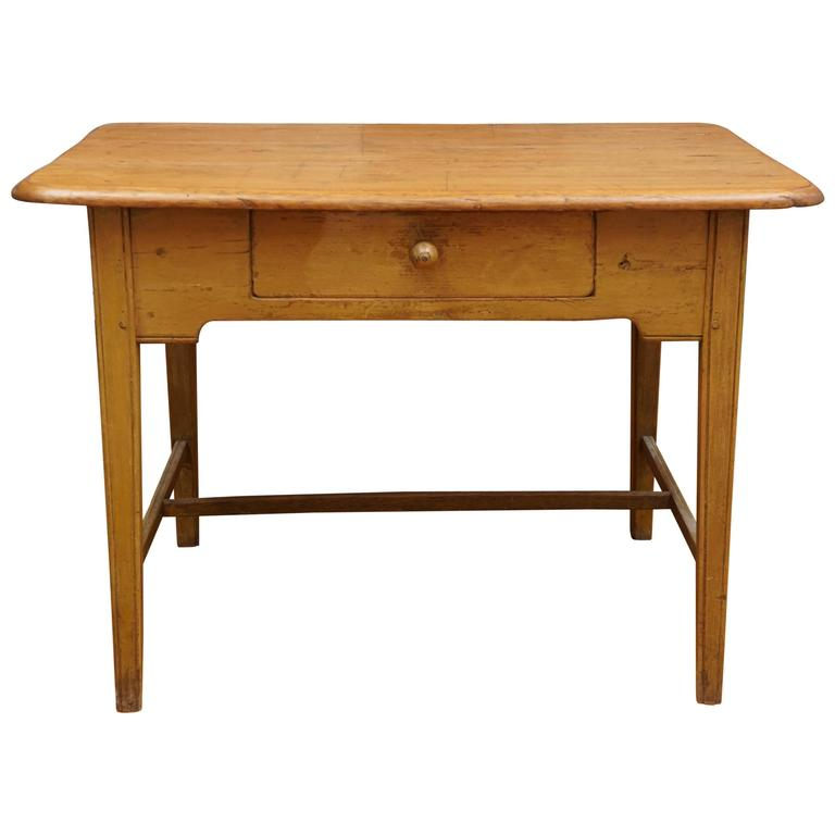 Canadian table in yellow paint for sale at 1stdibs for Yellow painted table