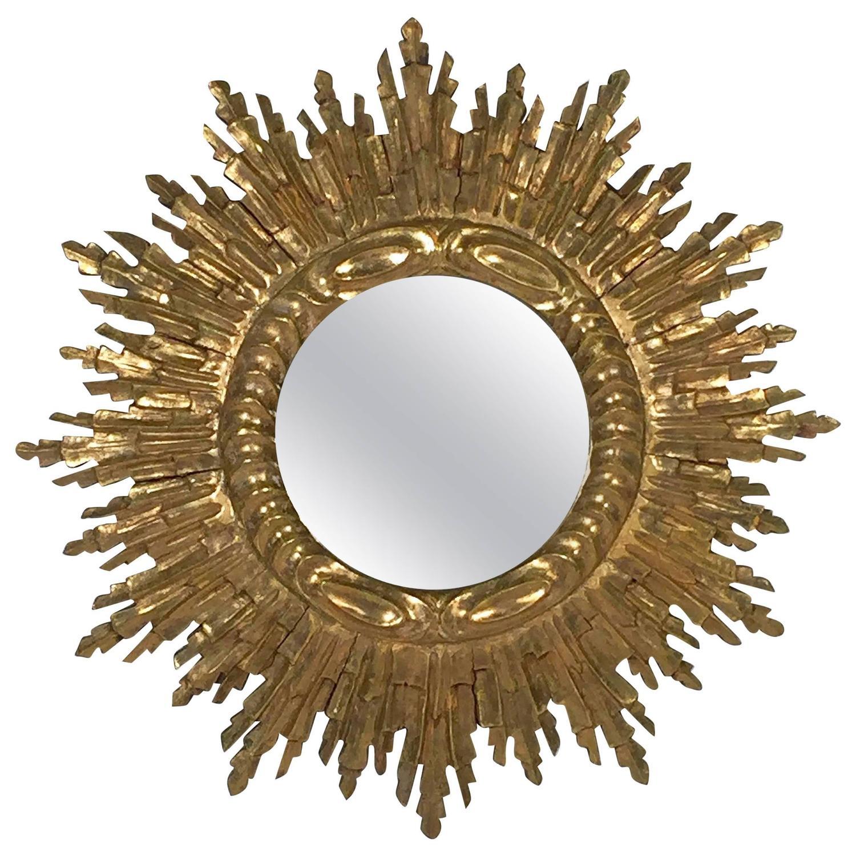 French gilt sunburst or starburst mirror for sale at 1stdibs for Sunburst mirror