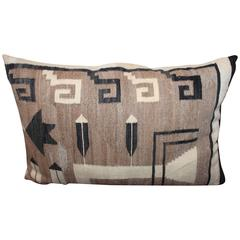 19th century Large Navajo Indian Weaving / Saddle Blanket Pillow l