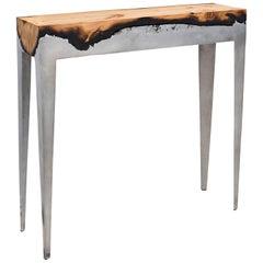 "Hilla Shamia Design Studio ""Wood Casting"" Aluminium and Tree Trunk Console"