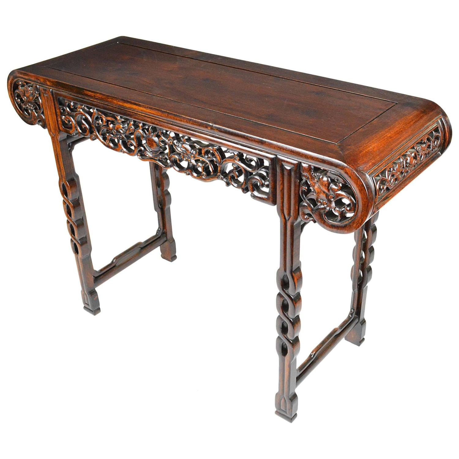 Chinese rosewood altar or console table for sale at stdibs