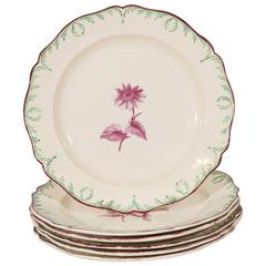Antique Wedgwood Creamware Dishes18th Century with a Green Feather Edge