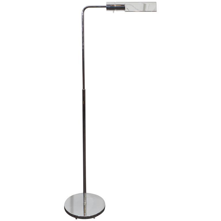 Casella adjustable reading floor lamp in chrome for sale at 1stdibs casella adjustable reading floor lamp in chrome for sale aloadofball Images