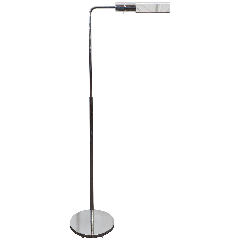 Casella Adjustable Reading Floor Lamp in Chrome
