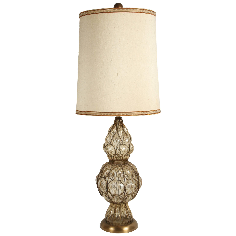 Vintage Venetian Murano Glass Italian Table Lamp by Marbro