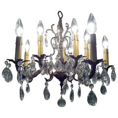 Crystal and Brass Chandelier