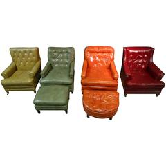 Collection of Vintage Leather Chairs