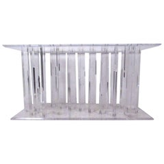 Vintage Modern Lucite Console Table