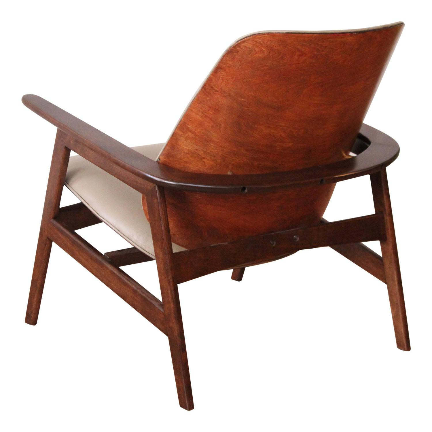 Superb img of Koda Wood Lounge Chair at 1stdibs with #A34828 color and 1500x1500 pixels