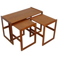 Set of Three Arne Hovmand-Olsen Nesting Tables for Mogens Kold, Denmark, 1960s
